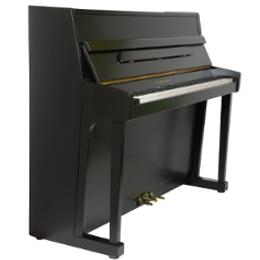 Ibach Klavier 115 schwarz satiniert